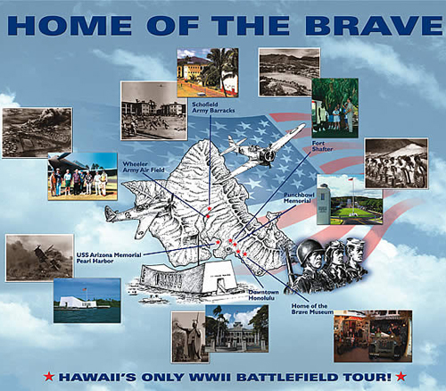 Home of the Brave Victory Tour Map